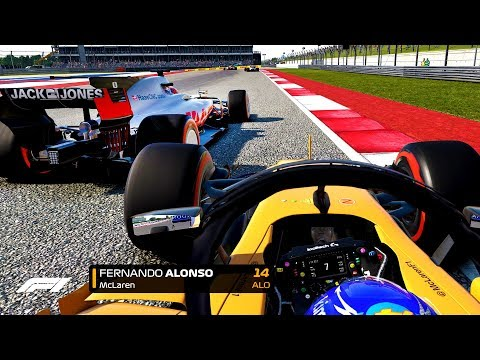 FIGHTING TILL THE LAST LAP! ALONSO TITLE FIGHT IS ON! - F1 2018 Mod CAREER MODE Part 16