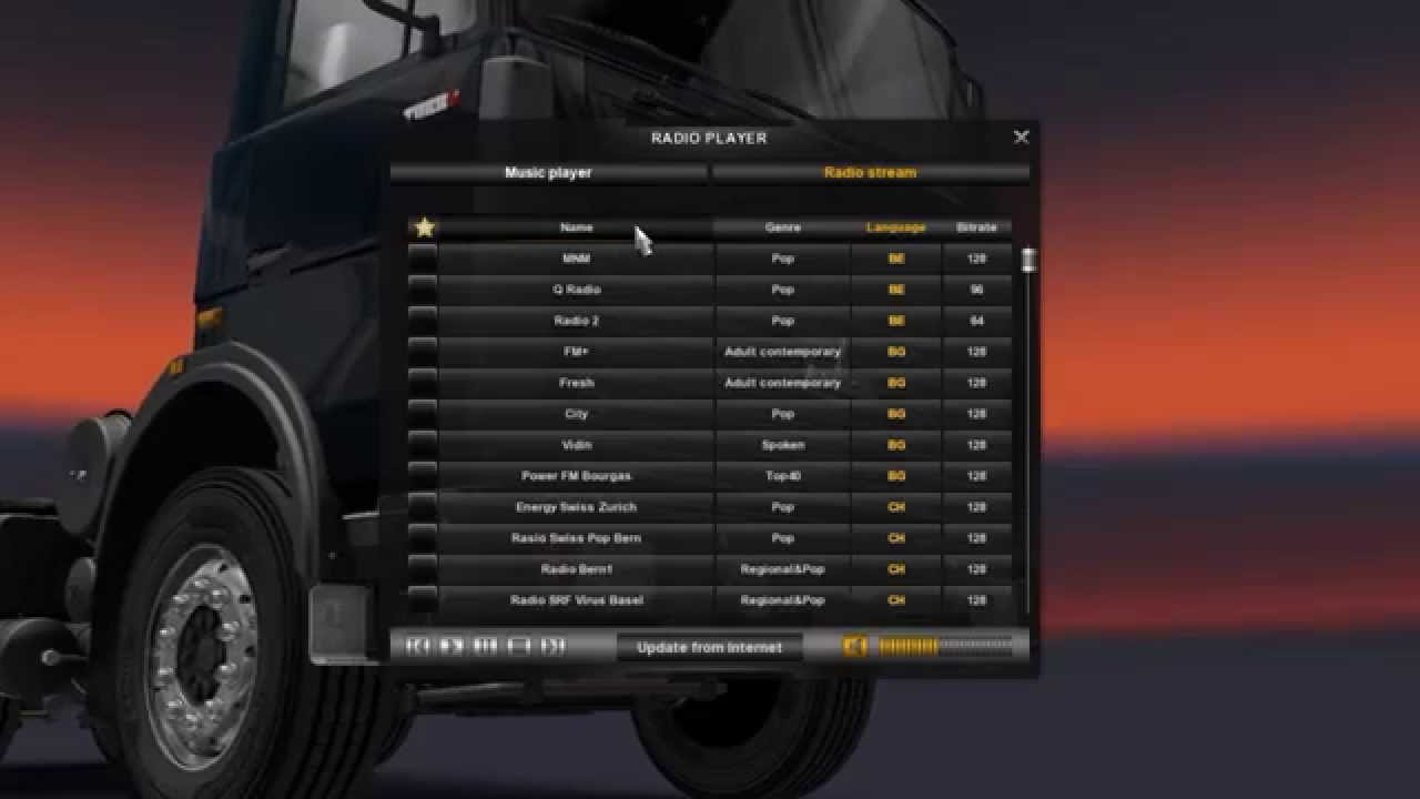 Ets 2 Mods Euro Truck Extended Radio Youtube