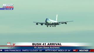 FINAL DC LANDING: George H.W. Bush arrives at Joint Base Andrews (FNN)