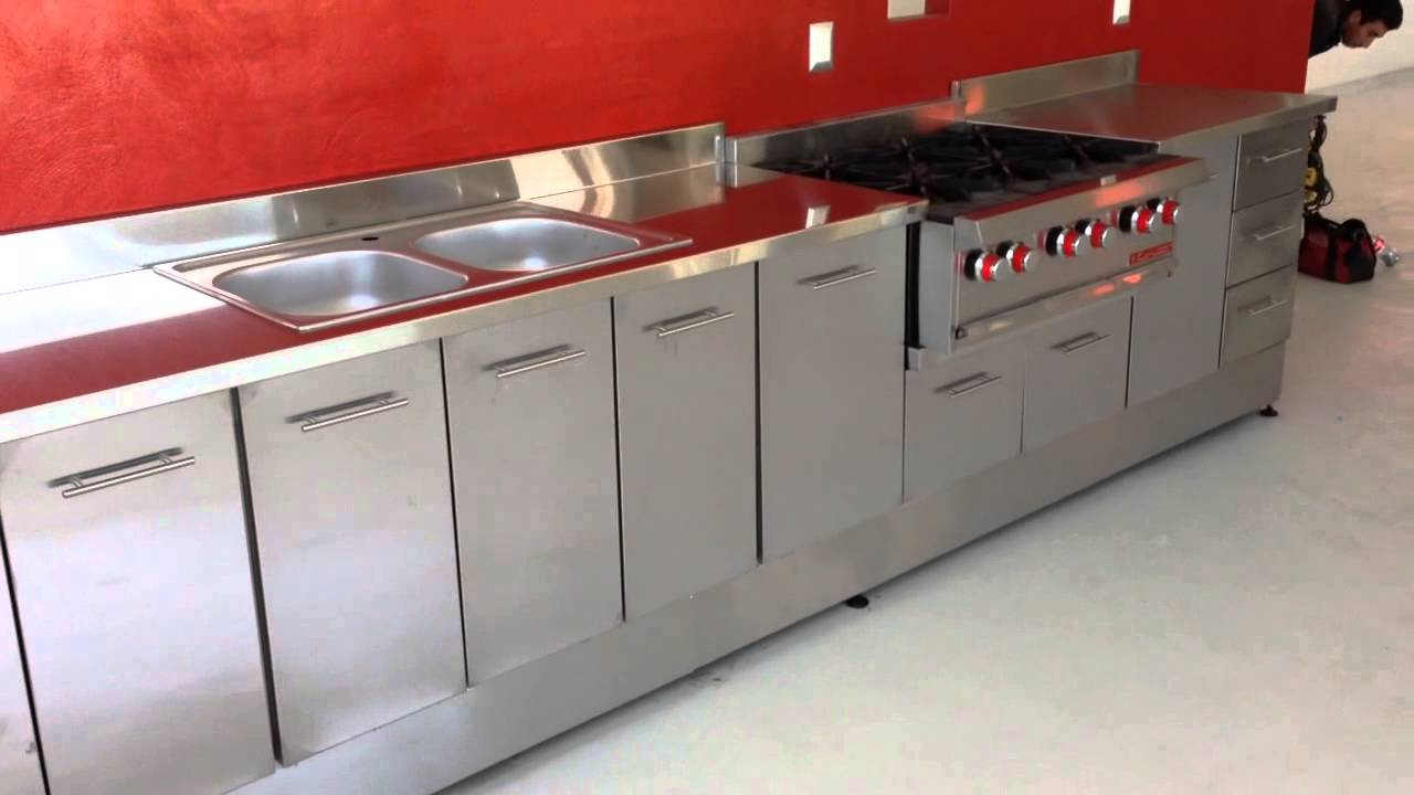 Cocinas integral en acero inoxidable - YouTube