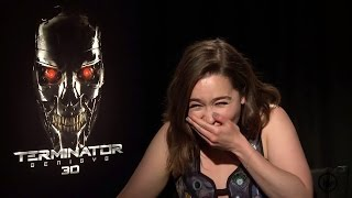 Emilia Clarke from Game Of Thrones Giggles Uncontrollably and it
