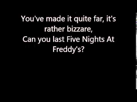 Welcome To Freddy's - Lyrics