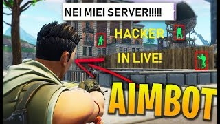 FORtnite ASSURDO! HACKERS LIVE ON MY PRIVATE SERVERS!! aimbot.exe property