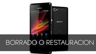 Sony Xperia M Borrado O  Restauración De Fabrica
