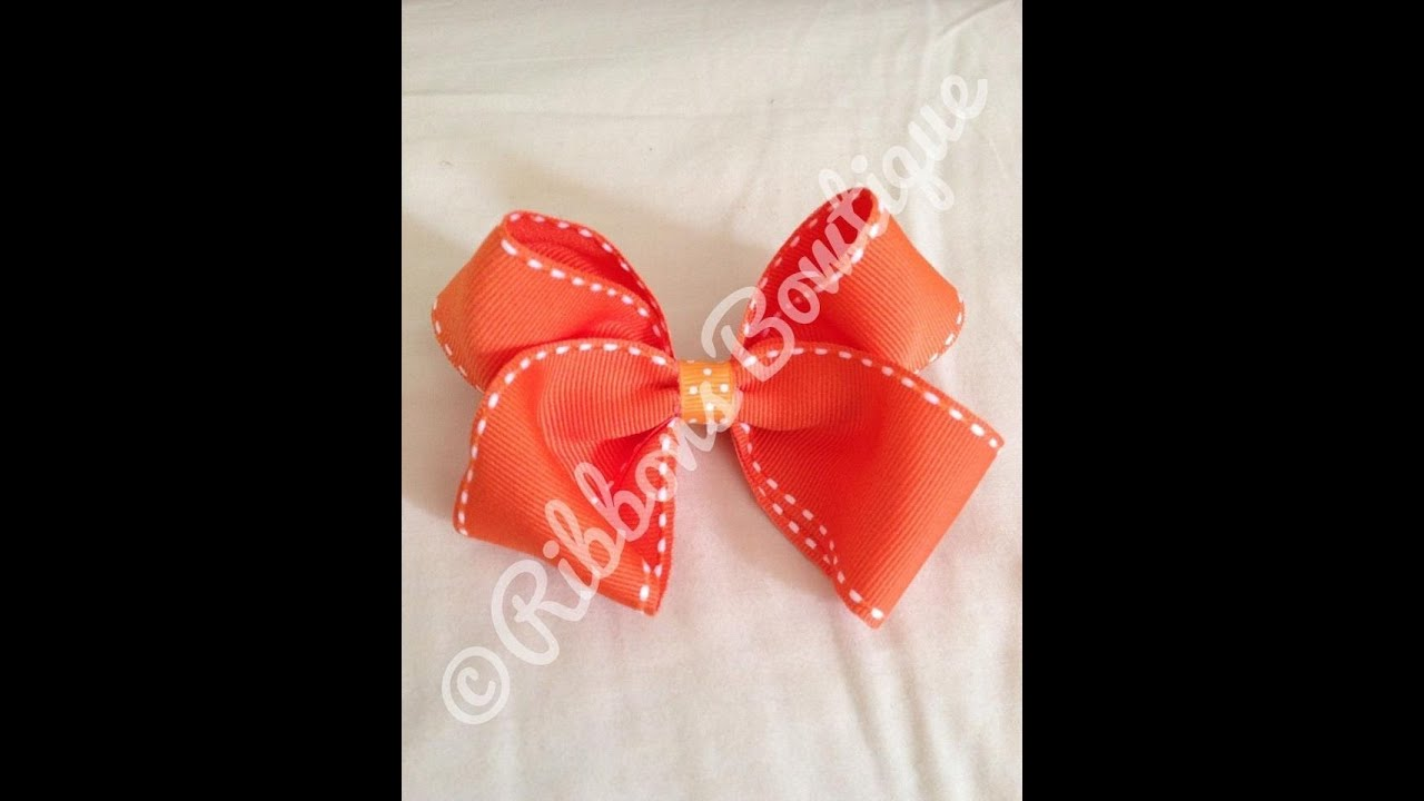 boutique style hair bow tutorial how to make a classic boutique style bow 6832