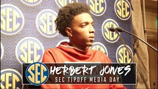 Herbert Jones at SEC Tipoff speaks to self confidence, plans for upcoming season