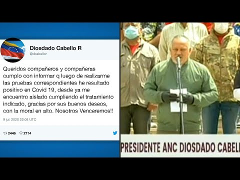 AFP Español: Número dos del chavismo, Diosdado Cabello, da positivo por COVID-19 en Venezuela | AFP