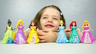 Disney Princess Little Kingdom MagiClip Princess Collection Belle Cinderella Aurora Ariel Rapunzel