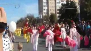 Фалуньгун на параде в Калуге, 2011 год