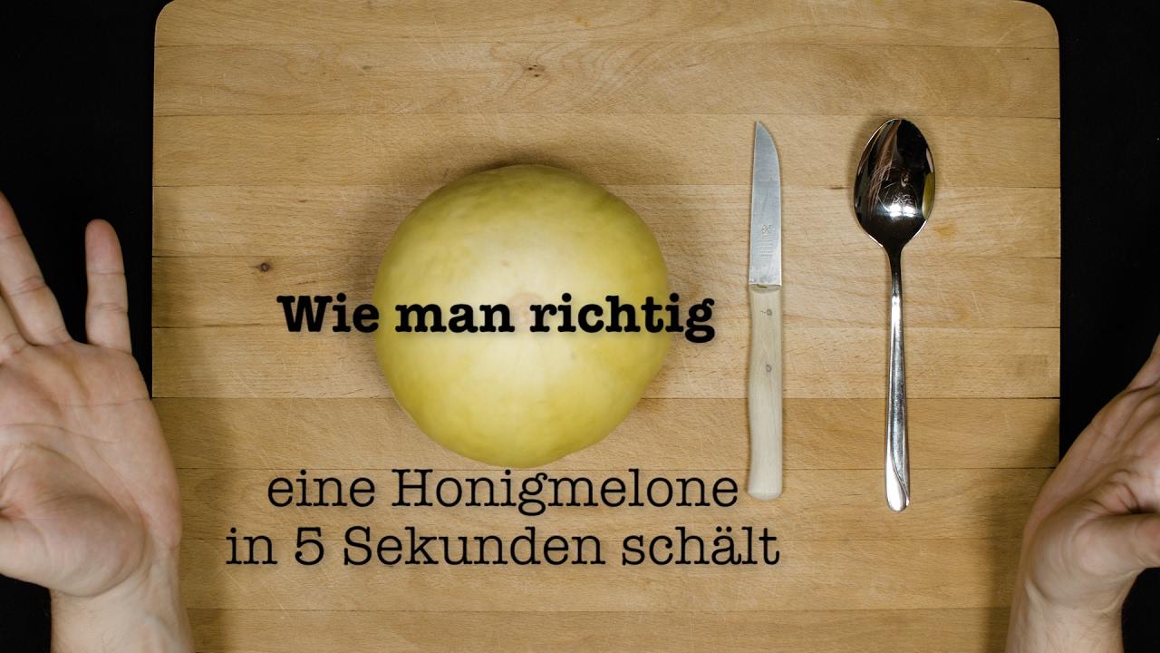EINE HONIGMELONE IN 5 SEKUNDEN SCHÄLT