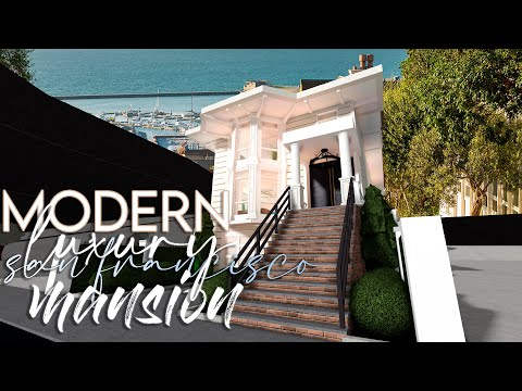 bloxburg-|-modern-luxury-san-francisco-mansion-|-190k-|-architecture-series-house-build