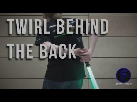 Wirbel hinter dem Rücken - Twirl behind the back - Single Lightsaber Trick