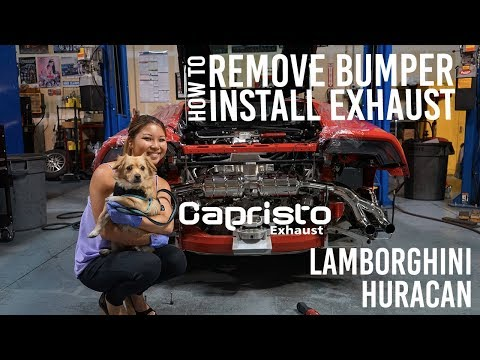 Formula Autohaus – HOW TO REMOVE THE REAR BUMPER LAMBORGHINI HURACA AND INSTALL A CAPRISTO EXHAUST