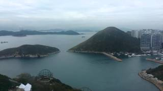 Ocean Park Ride View of South China Sea