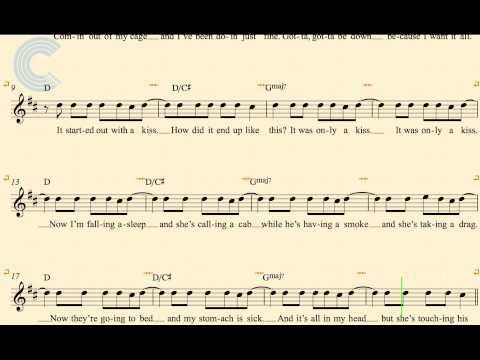 Violin - Mr. Brightside - The Killers - Sheet Music, Chords, & Vocals