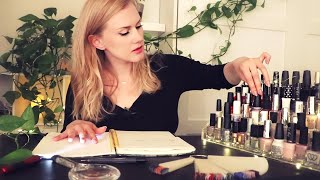 Nailpolish Cataloging ASMR 💅 Page Flipping • Unintelligible Whispers • Listen While Study • Ambient