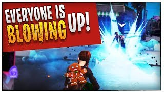 Fortnite - New Bug - Everyone is BLOWING UP! ft. HighDistortion, TimTheTatMan, & Trevor May | DrLupo
