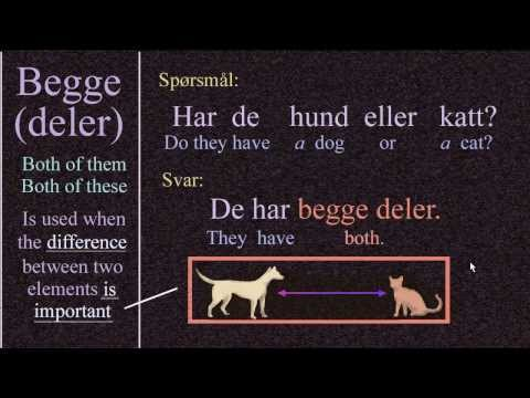 Både, Begge, Begge Deler Og Begge To: Norwegian Language: Bokmål