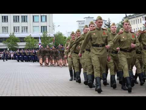 Парад в Белгороде 9 мая 2015 г.