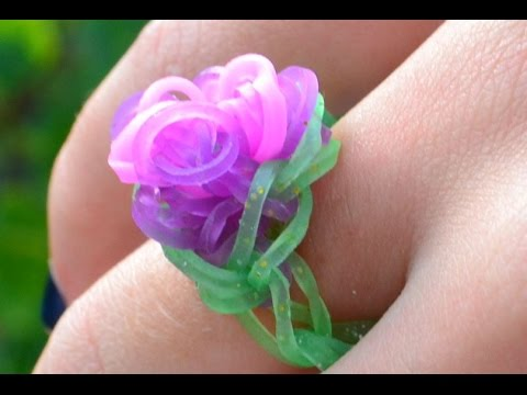 bague lastique rainbow loom avec machine how to make a rainbow loom flower ring diy youtube. Black Bedroom Furniture Sets. Home Design Ideas