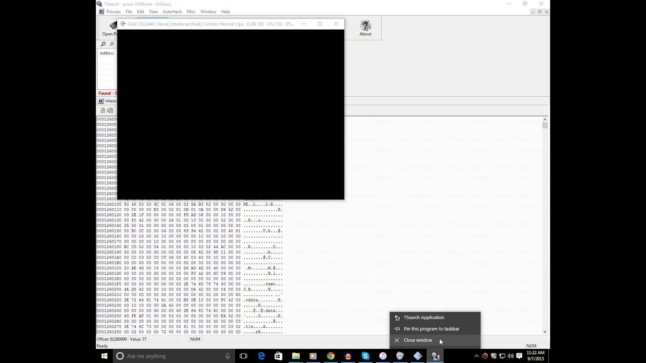 TSearch freezes PCSX2 on Windows 10 (SOLVED)