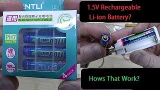 ААА 1,5 V перезаряджається літій-іонний акумулятор? Як Це Працює? 1100mWh або 300мач