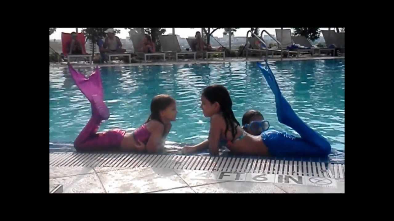 Miami Beach Mermaids Swimmable Mermaid Tails Youtube   Mermaid Videos For  Kids