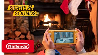 Sights & Sounds - Nintendo Switch Lite Gameplay with Relaxing Fireplace