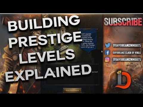 ALL BUILDING PRESTIGE LEVELS EXPLAINED - CLASH OF KINGS