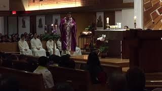 12 1 2018 Fr BAO THAI First Sunday Advent Vietnamese Cecilia Catholic Tustin California 2018