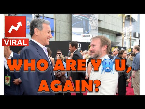 DISNEY CEO BOB IGER DERS THE ICY COLD DISS TO ROUNDHEAD RIAN JOHNSON!