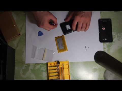Sony Xperia E4g. Замена аккумулятора.