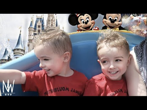 TWINS First Time at DISNEY WORLD!  Taking Preschoolers to Disney World   Nat+Wes Vlogs