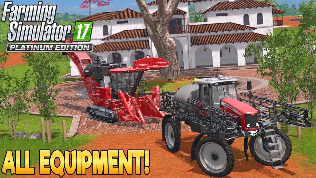 Platinum Edition: All Equipment! - Farming Simulator 17 - Simul8 Gaming -  YouTube