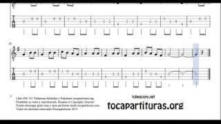 13 de 30 Popurrí Mix  Tablatura Partitura de Banjo La Cucaracha Cumpleaños Feliz Patio de Mi Casa