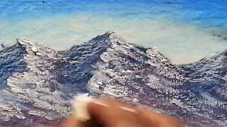 Lesson 5 -  Mountains , Absolute Beginners Oil Pastel Painting Lesson