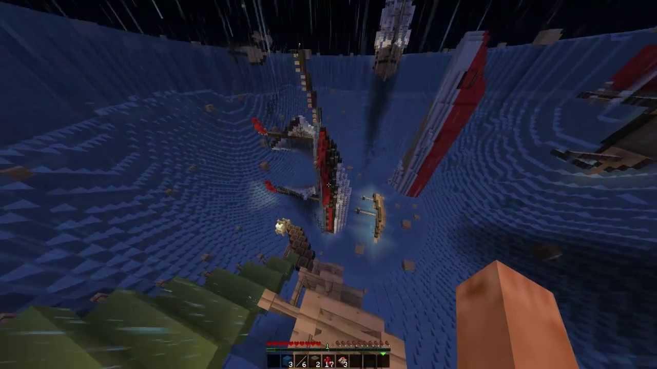 Minecraft Découverte de la map (Lost in Bermuda Triangle) - YouTube
