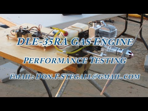 DLE-35RA Gas Engine - Performance Testing