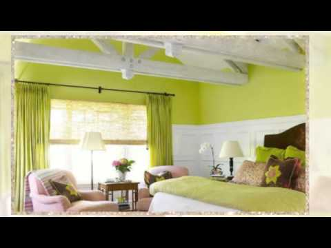 Girls Bedroom Paint Ideas Green And Pink - YouTube