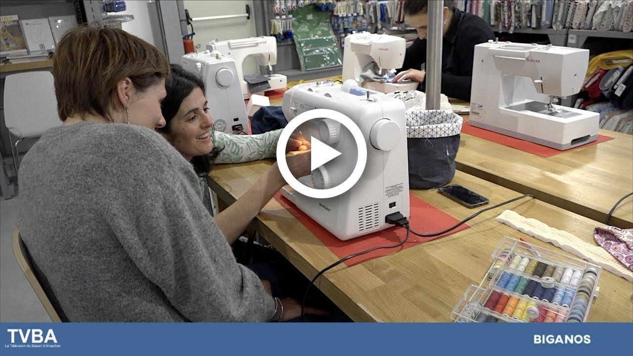 apprenez la couture avec le magasin mondial tissus de biganos