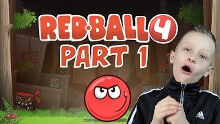 RED BALL 4, levels 1-6 - learning the basics, jumping and solving simple maps | KID GAMING