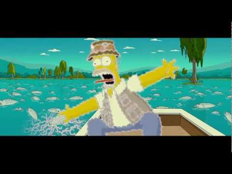The Simpsons Movie Bart Fishing With Homer Youtube