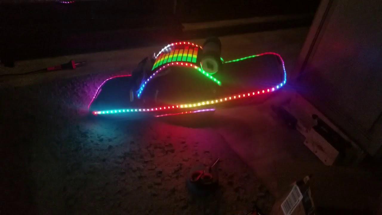 Onewheel LED setup for Burning Man
