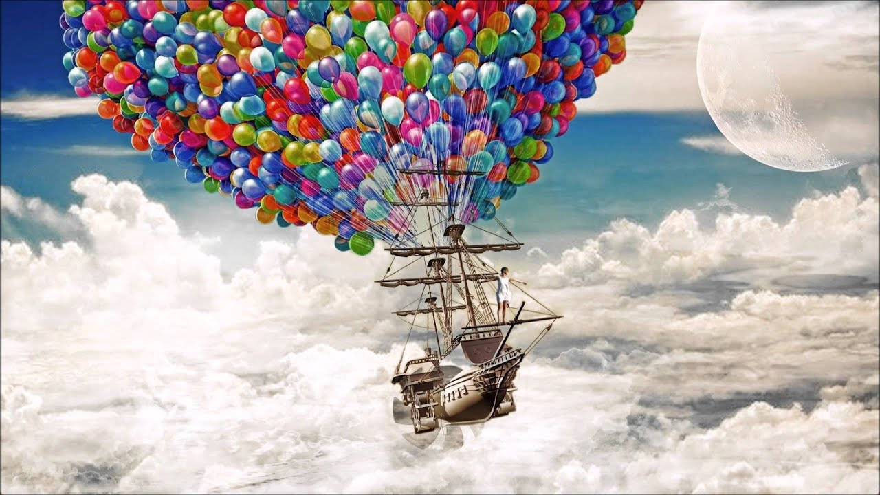 """""""Flying Free&quot... Up Balloons Wallpaper Hd"""