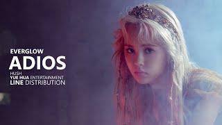 Download lagu EVERGLOW 에버글로우 ADIOS Line Distribution