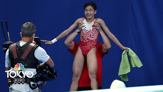 PERFECT SCORE: 14-year-old Quan's all-time diving final wins gold | Tokyo Olympics | NBC Sports