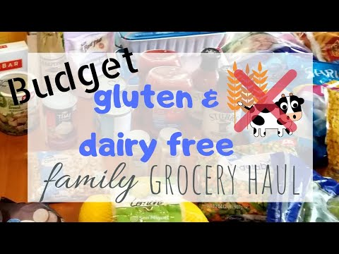 Family sized gluten and dairy free budget grocery haul