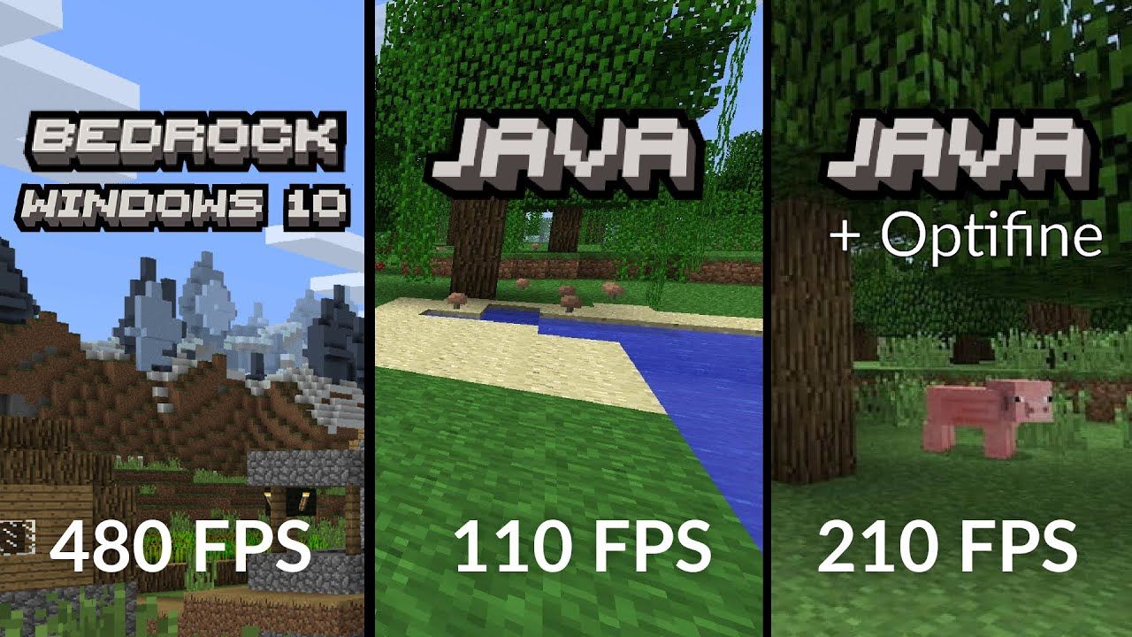 Minecraft 1 16 Java VS Bedrock benchmark YouTube
