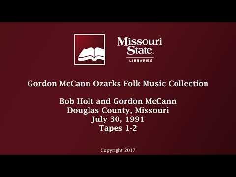 McCann: Bob Holt and Gordon McCann, July 30, 1991