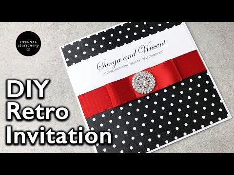 Easy Retro DIY Wedding Invitation | 1950s Pin Up Style | Eternal Stationery